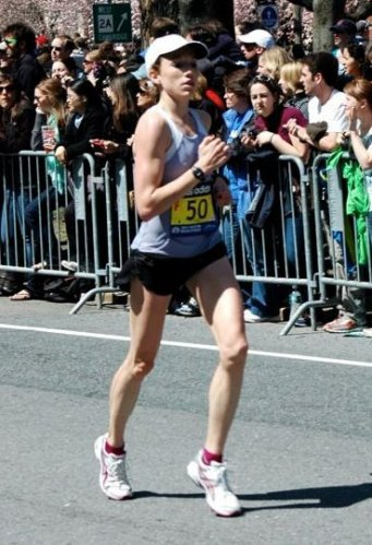 Knudson in Boston Marathon