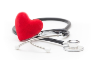 Image of stethoscope. Checkups with your doctor and lifestyle changes play a key role in heart attack prevention.
